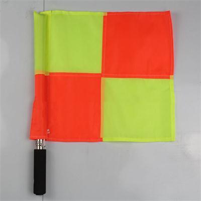 35*35 cm 1 PZ Professionale Sport Arbitro di Calcio Flag Mano Calcio Bandiere Guardalinee Arbitro di Calcio Attrezzature Strumento