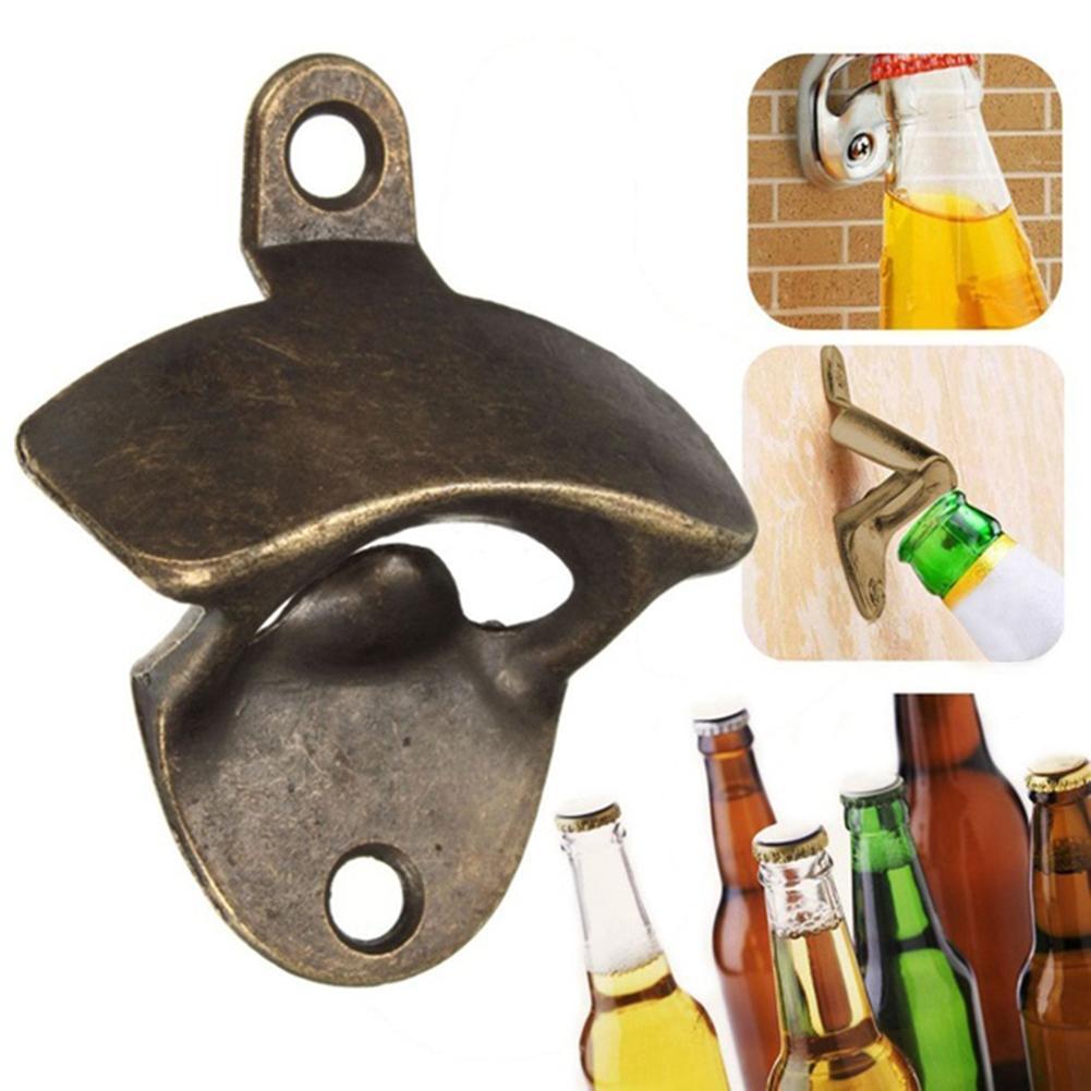 Vintage Wall Mounted Bottle Opener Hanging Beer Wine Soda Glass Kitchen Tool in Corkscrews Openers from Home Garden