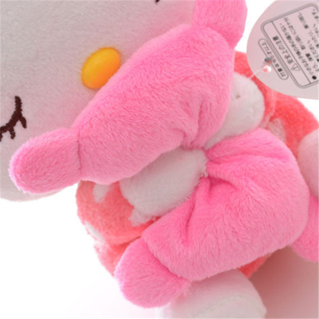 Online Shop Adorable Soft Pink Dots Sleeping Hello Kitty Hold