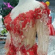 AIJINGYU Wedding Vintage Brazil Grey Lace Gown Dress With