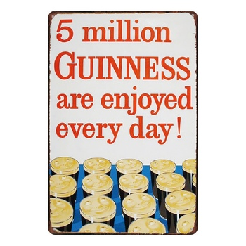 Placa de Metal con signo de lata de Million Guinness para Bar...