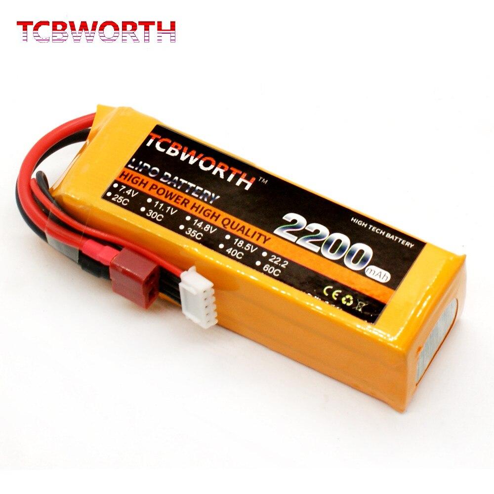 TCBWORTH 4S 14.8 v 2200 mah 60C RC LiPo batterie Pour RC Avion Hélicoptère Quadrirotor Haute Taux Cellulaire RC Li-ion batterie