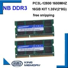 Hohe qualität und geschwindigkeit sodimm laptop ram DDR3 16 GB (kit von 2 stücke ddr3 8 gb) PC3-12800 204pin ram-speicher