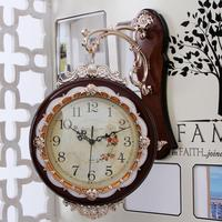 watches Decoration Art quartz European creative clock living room two bell clock watch Double large modern ultra mute Watch