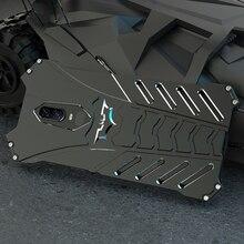 R JUST etui do Oneplus 7 7T Pro Batman Heavy Duty pancerz metalowe aluminiowe etui na telefony do Oneplus 5T 6 6T 7T odporna na wstrząsy tylna okładka