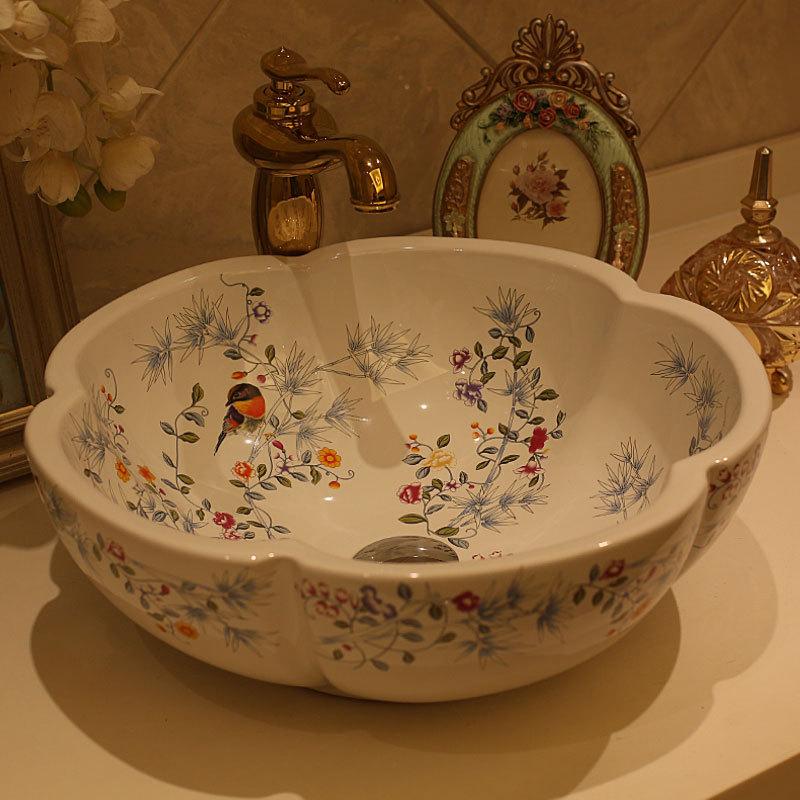 Europe Vintage Style Hand Painting Art wash basin bathroom sinks Countertop  bathroom hand basins China. Popular Bathroom Sink Styles Buy Cheap Bathroom Sink Styles lots