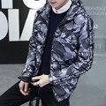 Новый 2016 Зимний мужской моды теплая куртка досуг камуфляж комфортно Корейской версии С Капюшоном хлопка-ватник