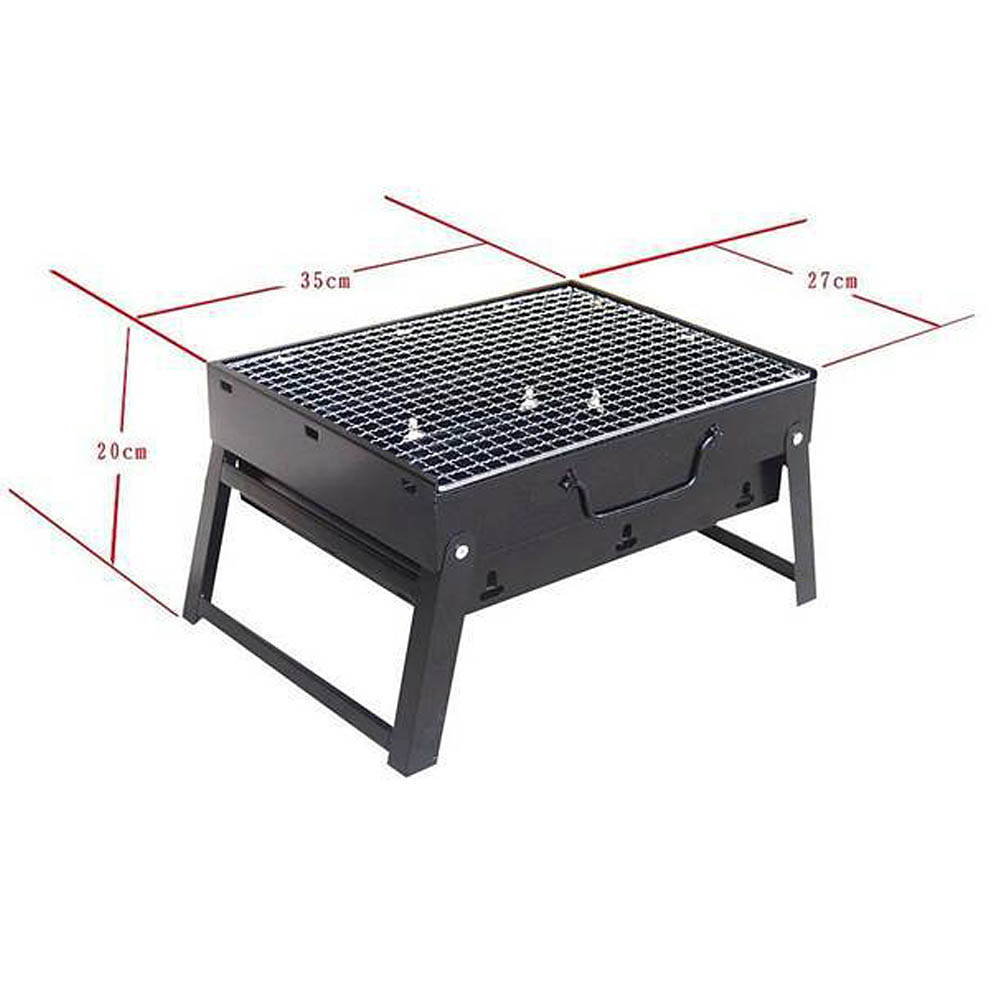 Outdoor Folding Patio Barbecue Grill Portable Camping Picnic Garden  Stainless Steel Charcoal Furnace BBQ Grills Burn