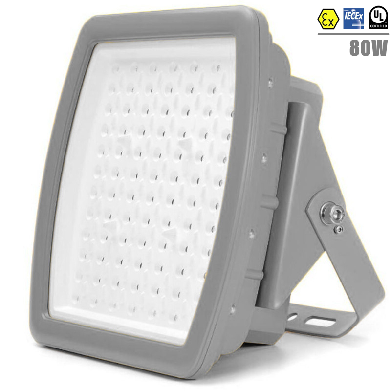 CES-J Explosion Proof LED Light ATEX 80w LED Lighting Class 1 Zone 2 Explosion Proof AC100V-277V UL DLC 80W Flood Light