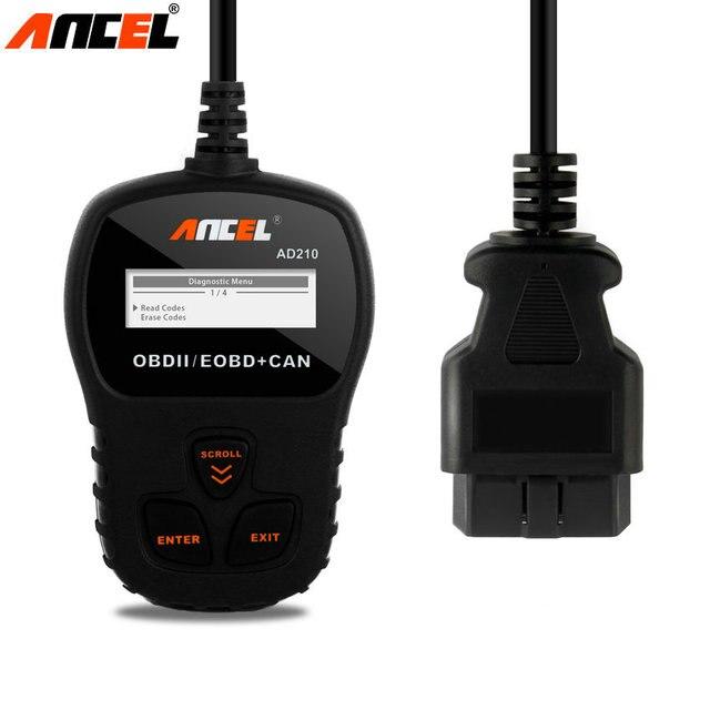 Новый MINI OBD2 EOBD CAN CODE Reader Ансель AD210 Русский Португальский Авто Scan Tool Автомобильная Сканер AD210 Диагностический инструмент