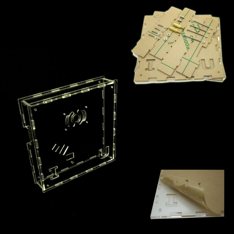 Heart-shaped Mp3 Music Player Lights Cubeed, Led Electronic Diy Kit Acrylic  Case