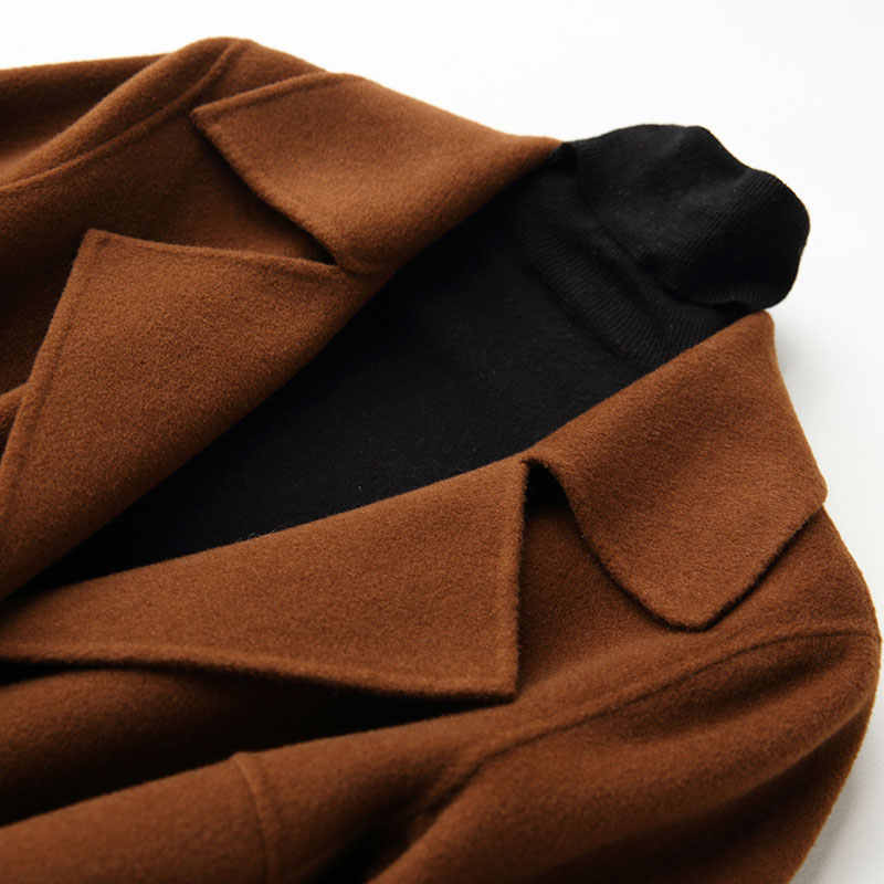 AYUNSUE 2019 зимнее пальто женское теплое шерстяное женское осеннее пальто длинные женские кашемировые пальто модная куртка Верхняя одежда 37033 WYQ1175