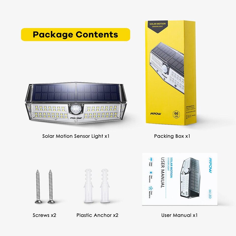 Mpow CD174 3 Adjustable Light Model 66 LED Bright Solar Powered Outdoor Lights (8)