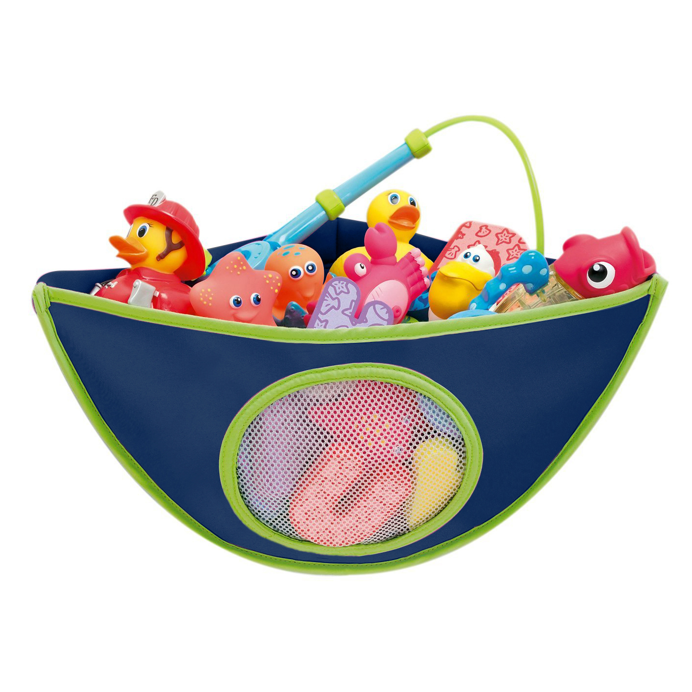 Corner Baby Bath Toy Organiser - Blue