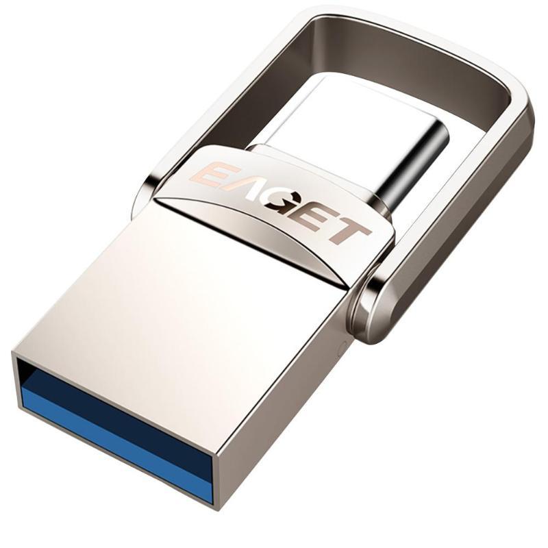 EAGET CU20 métal clé USB 32GB 64GB 128GB USB 3.0 Type C clé USB OTG type-c clé USB pour téléphone portable PC