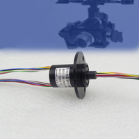 Out Diameter 22mm 12 Channel 2A Capsule Slip Ring Small Electrical Collection Slip Rings For Fpv