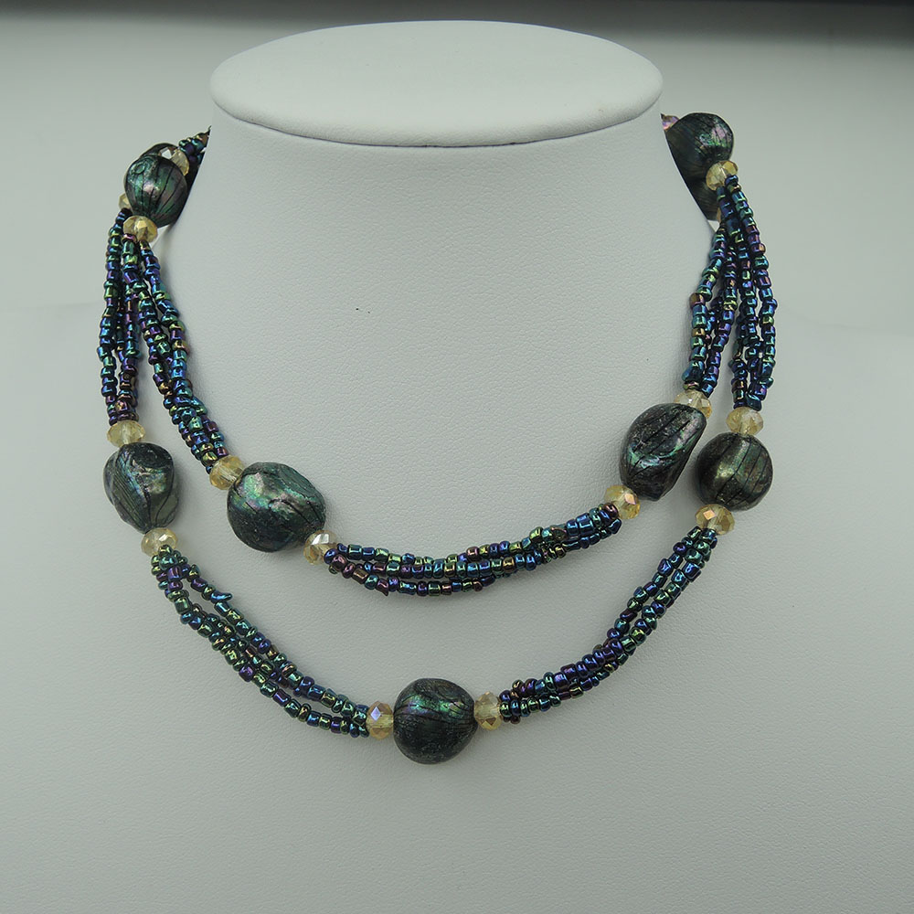 100% FRESH-WATER PEARL NECKLACE