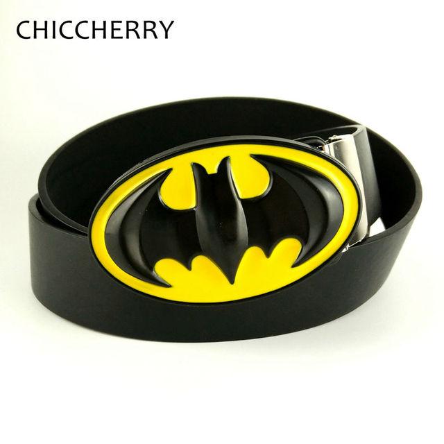 Nueva Moda Amarillo Y Negro Batman Cinturón de Hebilla de Metal 3D Fivela de Vaquero Negro Correa de Cuero de La Pu de La Cadera Faja Masculina Cintos Masculinos