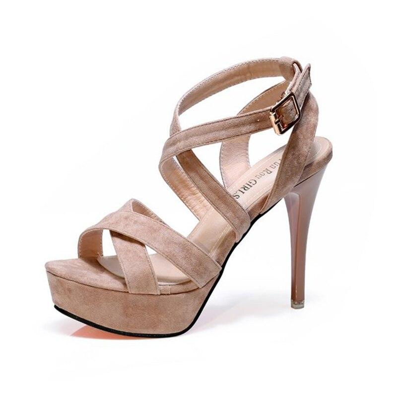 New Liens Poisson Chaussures Sexy Talons Hauts Plate Femme De Rome forme Bouche Personnalité Mince kaki 2018 Étanche Avec Noir Cross Sandales Xia À qYIfxw4p
