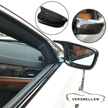 TOP PU Protect Carbon Mirror Caps Replacement OEM Fitment Side Mirror Cover for BMW 5 6 7 Series G30 G11 G12 2017 up LHD RHD