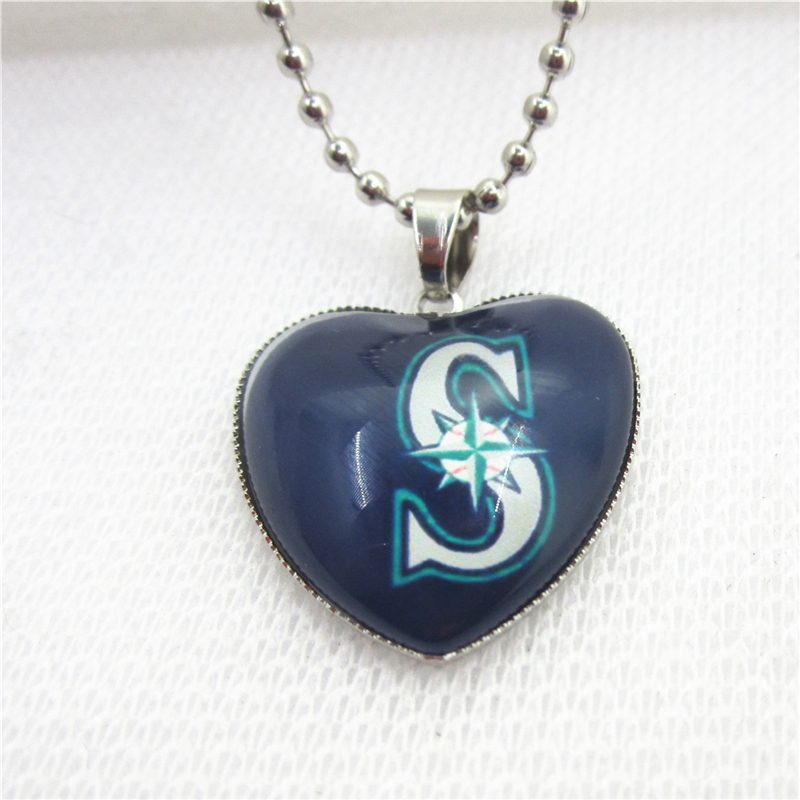 10pcslot mlb team seattle mariners necklaces with 45cm 10pcslot mlb team seattle mariners necklaces with 45cm beads chains baseball sports necklace jewelry pendant charms aloadofball Image collections