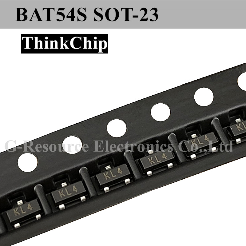 Free Shipping 100pcs/lot BAT54S SOT-23 Dual-series Small Signal Schottky Diode (Marking KL4)