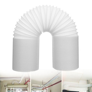 Image 2 - Flexible Durable Professional Intake Vent Parts Pipe White Universal Tube Exhaust Hose Steel Wire For Air Conditioner