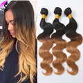 Ombre Human Hair Body Wave 3 Bundles Brazilian Virgin Hair Body Wave Ombre Brazilian Hair Bundles 2 Tone Ombre Hair Body Wave