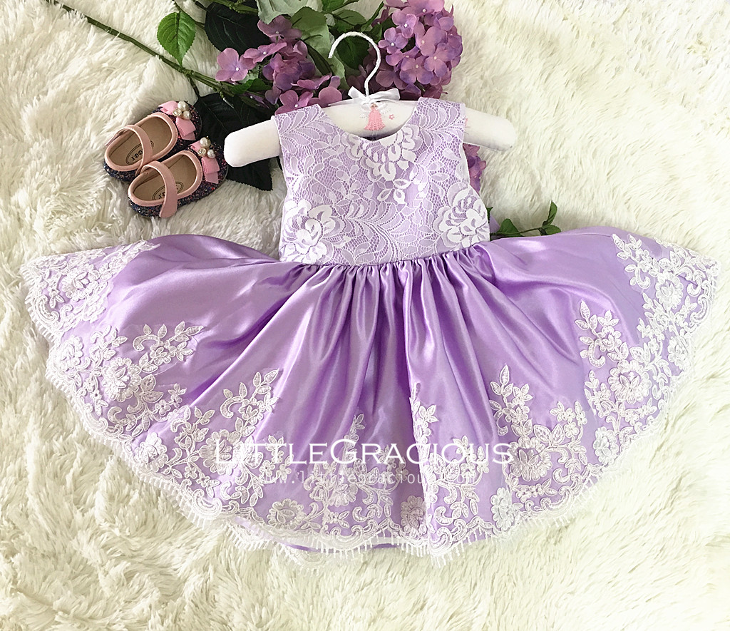4c289112f 100% Real Picture  Handmade baby Purple Toddler Easter Dress in ...