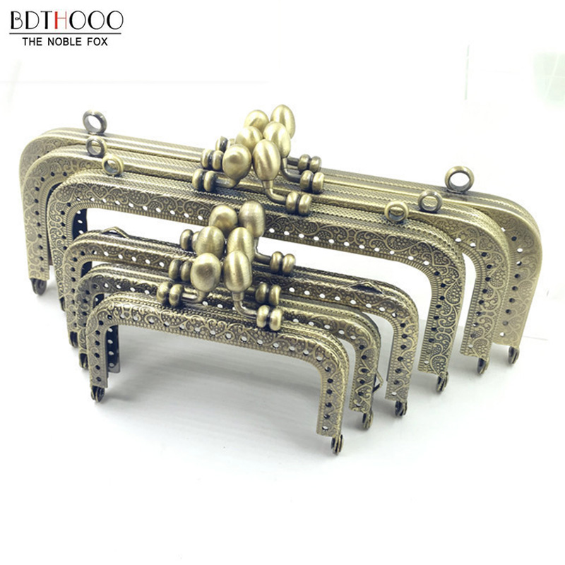 DIY Clutch Purse Frame Handle Coins Bags Part Metal Kiss Clasp Lock Frame Handbags Accessories For Bag 8.5/10.5/12.5/15/18/20cm