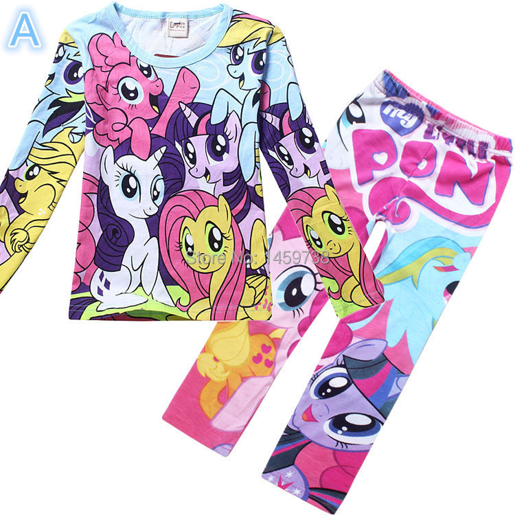 Girls My Little Pony Striped Long Sleeved Pajamas Size 8