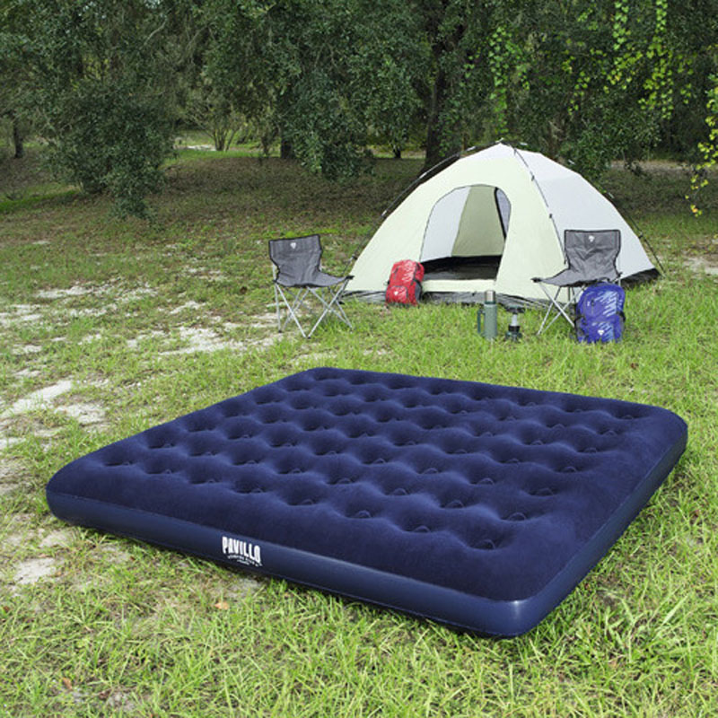 Bestway 67004 203 183 22cm Double Person Flocking And Column Air Bed Ultralarge Inflatable Mat Air