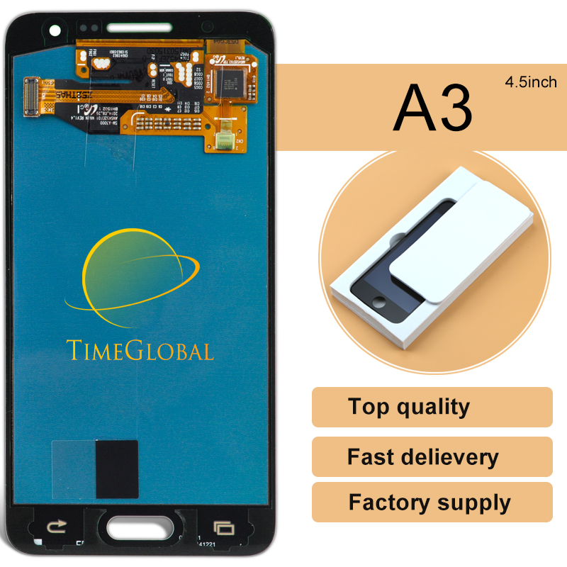 ФОТО 10PCS Wholesale 100% Original For Samsung galaxy A3 a300 lcd display touch screen digitizer , freeshipping