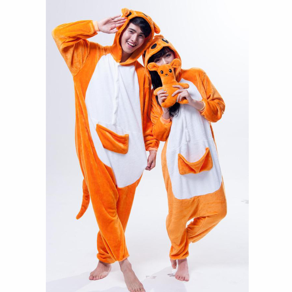 Kangaroo Pajamas Adult Kids Cosplay Costumes Kangaroo Onesies For Unisex Dance Fancy Pajamas Halloween Party Gift