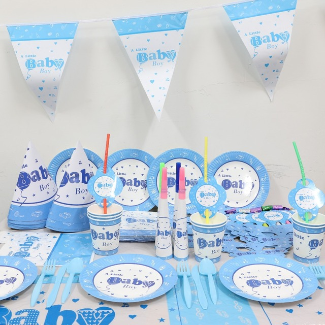 2015 New Kids Party Decoration Set 20 A Little Baby Boy Theme Supplies Shower Birthday Pack P285