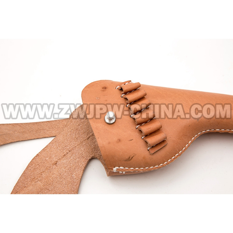 WW2 WWII CHINESE ARMY REVOLVER HOLSTER GUN LEFT HAND RIFLE CASE REAL  LEATHER REPLICA CN/103116