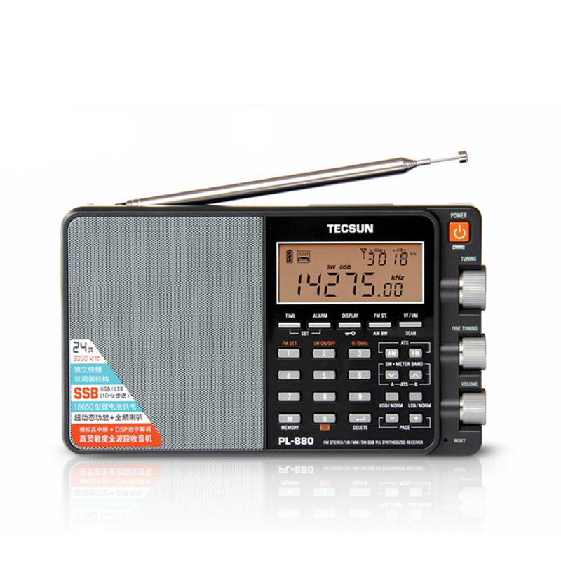 Intelligent Tecsun/desheng Pl-880 High-leistung Voll-band Digital Tuning Stereo Radio Neue Um Sowohl Die QualitäT Der ZäHigkeit Als Auch Der HäRte Zu Haben Unterhaltungselektronik