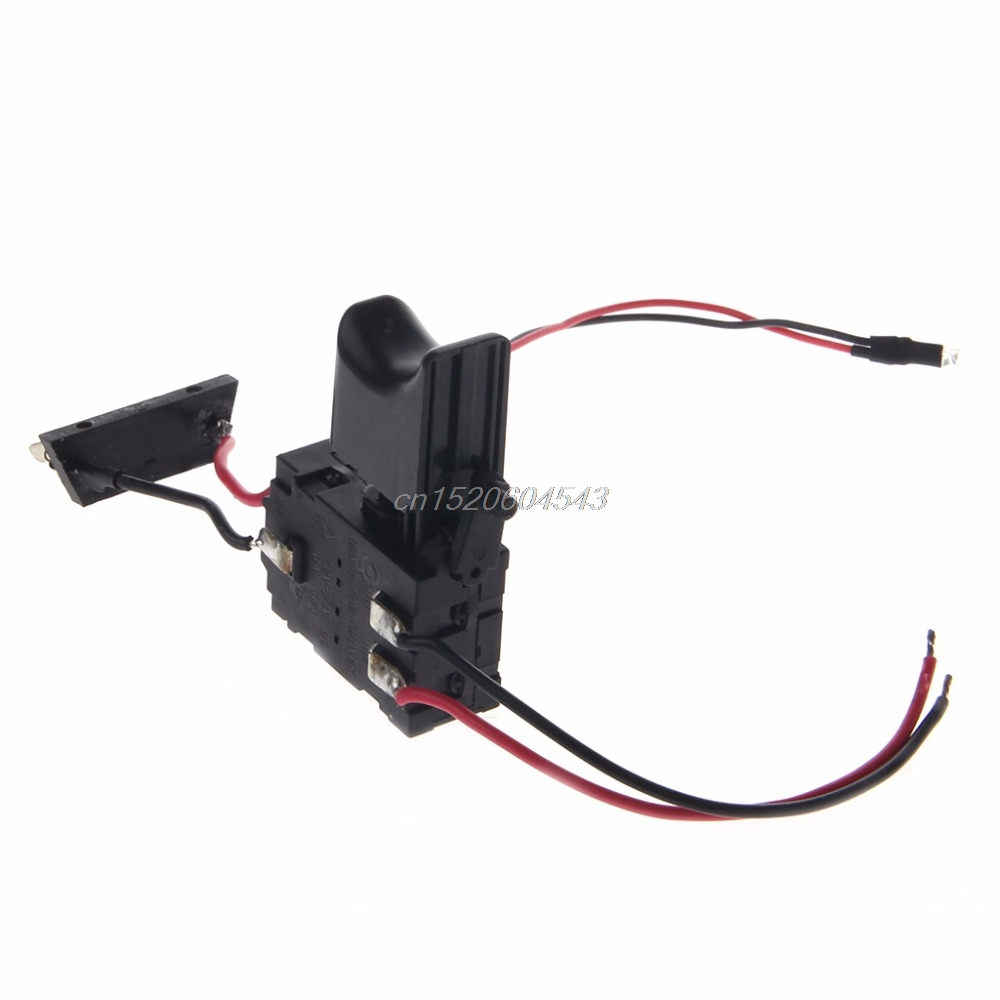 Electric Drill Dustproof Speed Control Push Button Trigger Switch DC 7.2-24V Switches R06 Drop Ship 30a esc welding plug brushless electric speed control 4v 16v voltage