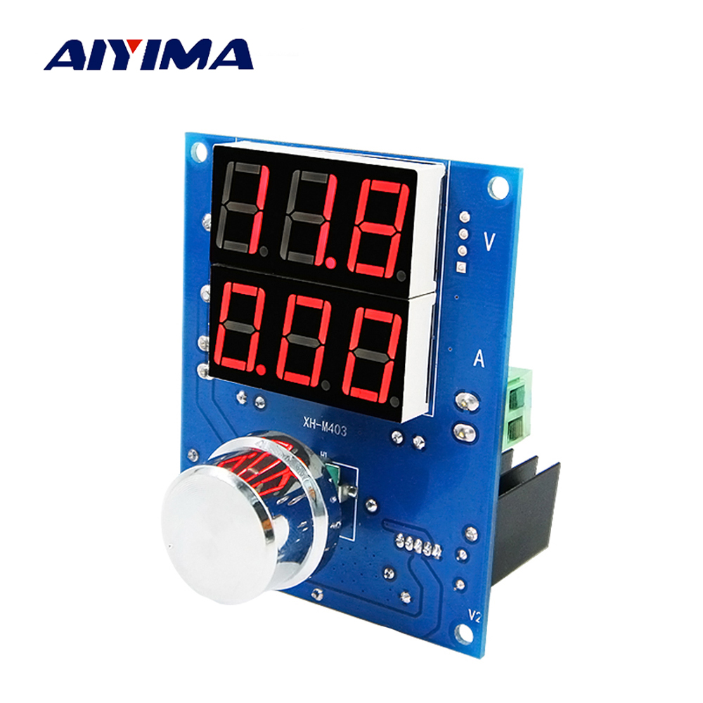 Aiyima Digital Voltage and Current Regulator Module High Power 8A DC Converter 12V 24V power amplifier high voltage and high current opa544 module 68v peak 2a current carrying motor drive