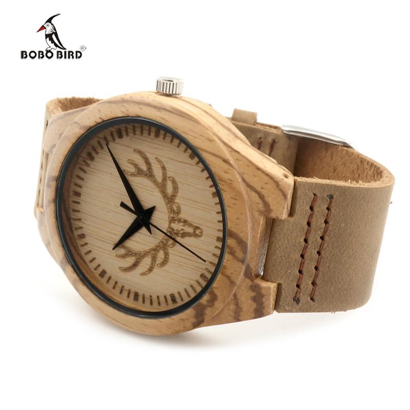 wood wristwatch