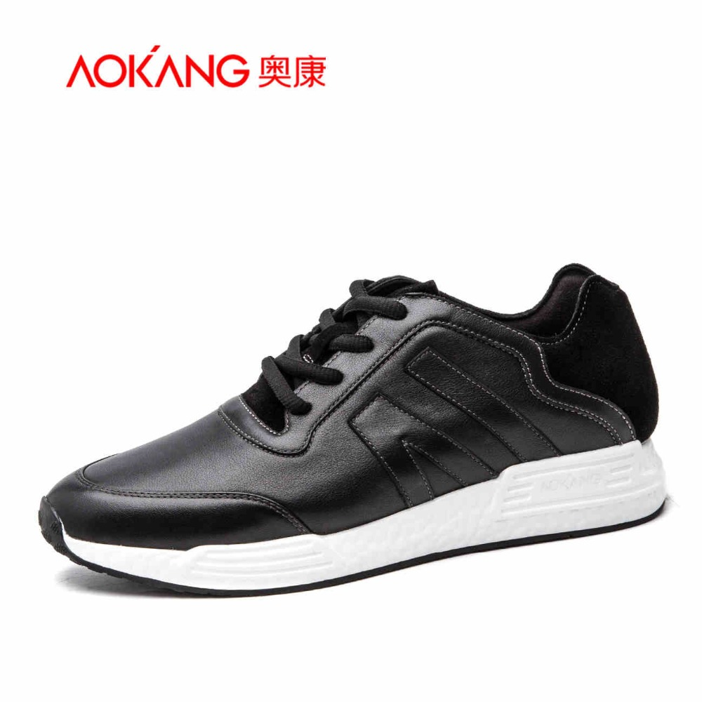 AOKANG Hot SALE 2017 Fashion Men Casual Shoes Spring Autumn Mens Trainers Breathable Flats Walking Shoes zapatillas hombre