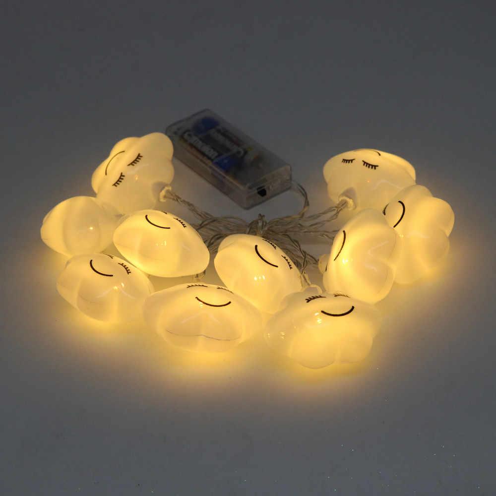 Облачные световые гирлянды 10 светодиодные шары наружные гирлянды для свадебной вечеринки Рождественские лампочки для Хэллоуина Gerland Праздничная Декоративная гирлянда