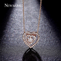NEWBARK Love Heart to Heart Necklaces & Pendants For Women 3 Layers 2 Hearts Inside 1 Flower Romantic Gifts Fashion Jewellery