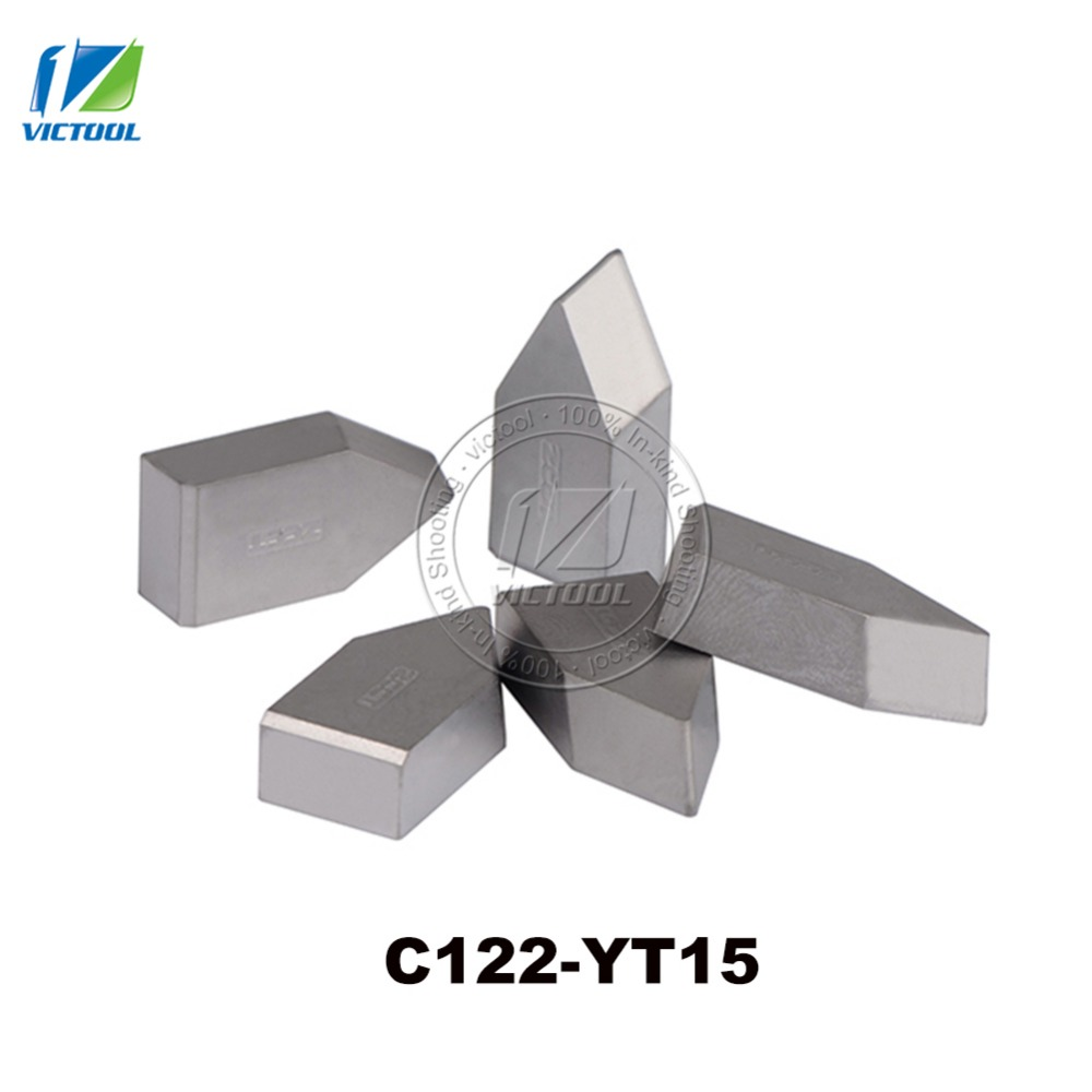 10pcs/lot C122 YT15 Tungsten Brazed Tips Carbide Inserts Threading Turning Tools & Turning Tools For Peripheries