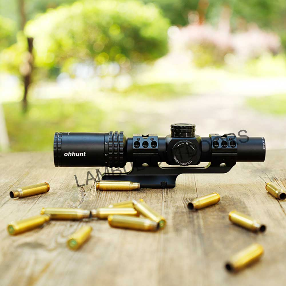 Ohhunt Guardian 1-6x24 IR Hunting Optical Compact Sights Glass Etched Reticle Red Illuminate Tactical Shooting Riflescope