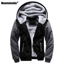 Mountainskin Autumn Winter Male Jackets Thick Velvet Sweatshirt Men Tracksuit Soft Men Hoodies Coats Mens Brand Clothing SA402