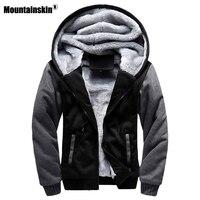 Mountainskin Autumn Winter Male Jackets Thick Velvet Sweatshirt Men Tracksuit Soft Men Hoodies Coats Mens Brand Clothing SA402