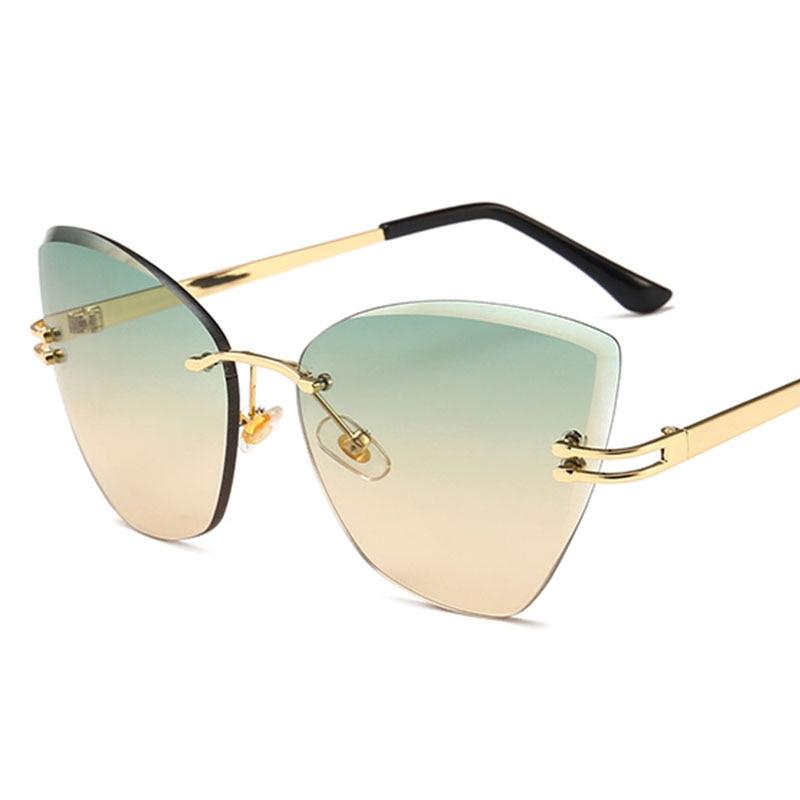 d5605c4957a68 2018 New Fashion Cat Eye Sunglasses Women Brand Designer Gradient Sexy  Stylish Cat Eye Sun Glasses ...
