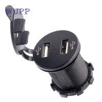 12V Dual Port USB Charger Socket Voltage Voltmeter Rocker Switch Panel Car Boat Cargador Motorcycle Car