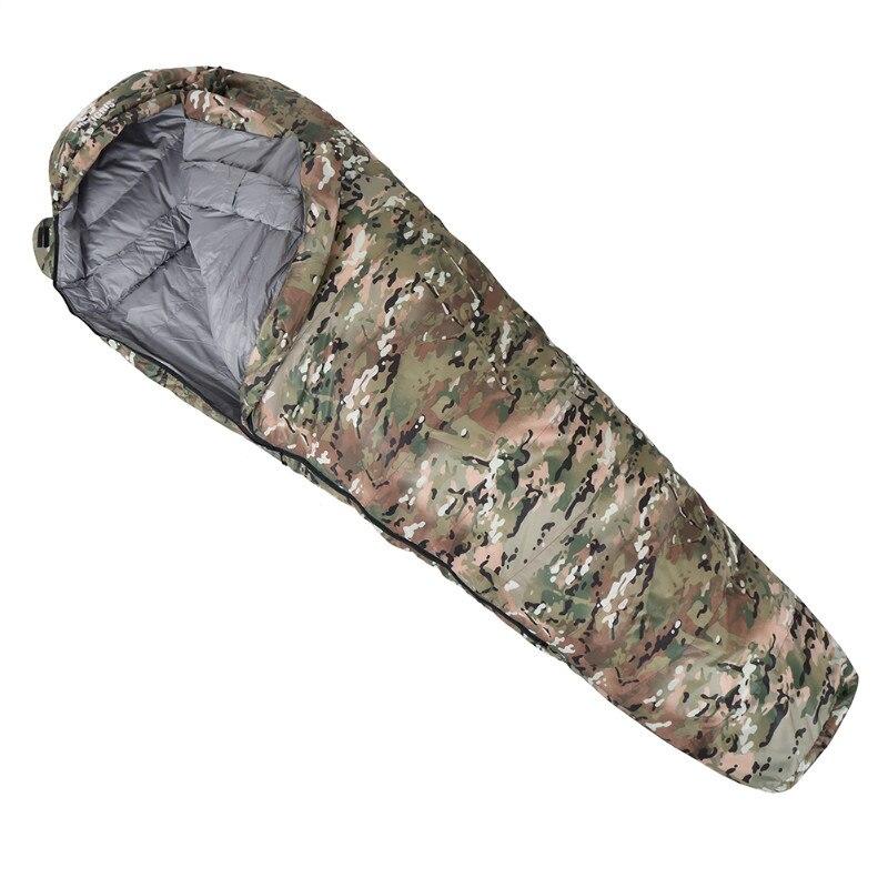 OneTigris Военная Униформа Camo Мумия спальный мешок 0 ~ 15C Портативный сверхлегкий одного сна мешок для взрослых джунгли выживания кемпинг Пеший Туризм